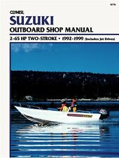 CLYMER SUZUKI TWO STROKE DT25 OUTBOARD SHOP REPAIR SERVICE MANUAL 1992-1999