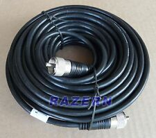 50 ft RG8X coax coaxial UHF PL-259 connectors amateur ham CB radio antenna cable