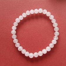 Rose Quartz Bracelet 6mm Beads stretch bracelet Pink Quartz 4 unconditional love