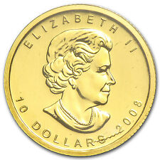 2008 Canada 1/4 oz Gold Maple Leaf BU - SKU #30757
