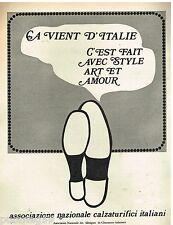 Publicité Advertising 1972 Association des Fabriques des chaussures Italiennes