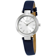 DKNY Stanhope Blue Dial Navy Blue Leather Ladies Watch NY2412