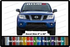 "Nismo Front Windshield Banner Decal Fits Nissan Trucks,Cars,SUV 4"" x 40"""