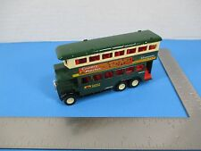 SS 5854 Green Die Cast Model London Double Decker Bus Country Matches Ad  VS13