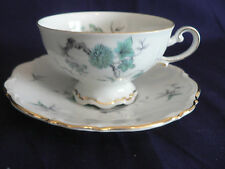 GREEN MING  FOOTED MITTEREICH BAVARIA TEA CUP AND SAUCER