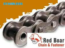 #40SS STAINLESS STEEL ROLLER CHAIN  WITH 2 CONNECTING LINKS #40SS-1R X 10FT