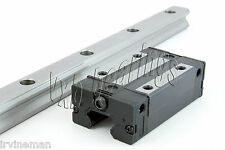 "20mm 30"" Rail Guideway System Flanged Slide Unit Linear Motion Rail Heavy Duty"