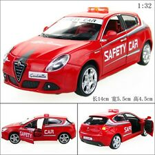 1:32 Alfa Romeo Police car Alloy Diecast Car Model Toy Gift Sound&Light Red 2336