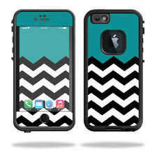 Skin Decal Wrap for Lifeproof iPhone 6/6S Case fre cover Teal Chevron