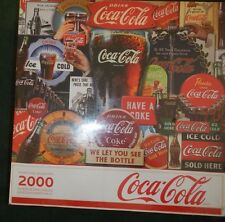 "SPRINGBOK COCA COLA DECADES OF TRADITION 2000 PIECE 34 X 42.5"" PUZZLE - NEW"
