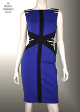 IVANKA TRUMP Women Dress Size 16 COBALT BLUE Knee Sleeveless Dressy NWT