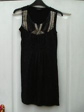 DOROTHY PERKINS BLACK SPARKLY GLITTER SILVER EMBELLISHED TRIM FLOATY TUNIC TOP 8