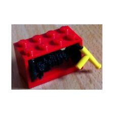 LEGO - String Reel 2 x 4 x 2 Complete with String and Yellow Hose Nozzle - Red