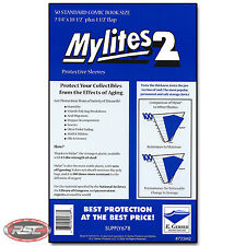50 - E. GERBER MYLITES 2 STANDARD (BRONZE) 2-Mil Mylar Comic Bags Sleeves 725M2