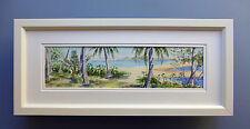 "Framed Original Watercolour ""Freshwater Creek, Palm Cove"" Far North Queensland"