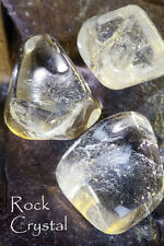 ROCK CRYSTAL - also known as clear QUARTZ  Plus our book A to Z of Stones