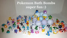 Pokemon Toy inside Poke Ball Bath Bomb  - Lot of 3 Ultra Lush Bedtime Lavender