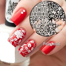 Arabesque Butterfly Nail Art Stamp Stencil Template Image Plate BORN PRETTY BP79
