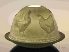 Plaristo - DOME LIGHTS TEA LIGHT CANDLE HOLDER - Cock & Hen