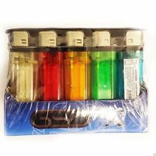 50 x DISPOSABLE LIGHTERS MULTI COLOURS ADJUSTABLE FLAME WITH CHILD SAFETY