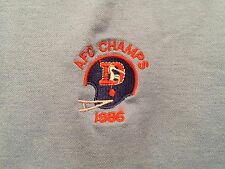 Vintage Denver Broncos polo Shirt 1986 AFC Champs XL Etonic Embroidered NFL