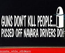 NAVARA GUN Funny 4x4 Ute Canopy Car Stickers 200mm