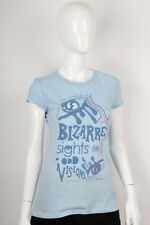Paul Frank -XS- $29 Ladies Blue Bizarre Sights Odd Visions T-Shirt 142600149 NWT
