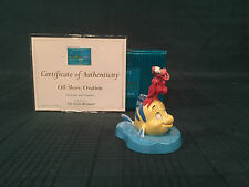 "WDCC The Little Mermaid - Sebastian & Flounder ""Off-Shore Ovation"" NIB"