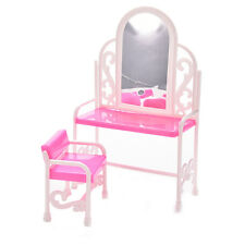 1 Set Bedroom Furniture for Barbie with Table Chair Play House Toy Baby  K010,