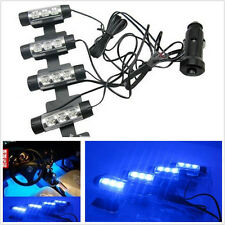 4 Pcs Blue LED 12V Footwell Decorative Atmosphere Lights Lamp Interior lamp