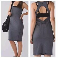 NWT! Lululemon Micro Stripe Black Athletic Go For It Dress Sz 10 Retail$88