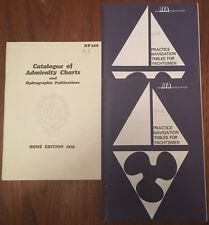 Vintage Admiralty Charts & RYA Practice Navigational Tables For Yachtsmen 1970's