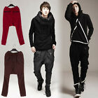 Men Hip-hop Jogger Dance Sportwear Baggy Harem Loose Pants Trousers Coffee XS/L