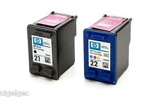 HP 21 Black + HP 22 Colour Relled Ink Cartridges XL C9351AE C9352AE HP21 HP22