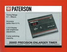 PATERSON 2000D fotografica camera oscura Enlarger TIMER: PTP 745