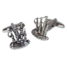 Scottish Bagpipes Cufflinks & Gift Pouch - Scotland
