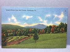 Camels Hump from Golf Course Waterbury VT Vintage Postcard Linen Color Unposted