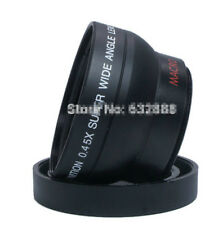 High Quality 55mm 0.45X Wide Angle Macro Conversion Lens For Canon Nikon Sony