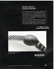 Publicité Advertising 1993 La Montre Coupole Ceramique Rado