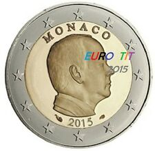 2 €     MONACO   PRINCE ALBERT  2015     PIECE   NEUVE        Disponible