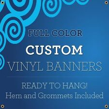 2' X 6' Full Color Custom Banner 13oz Vinyl Outdoor Personalized ft Signs