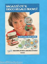TOP989-PUBBLICITA'/ADVERTISING-1989- FERRERO - NUTELLA  DISCO REGALO