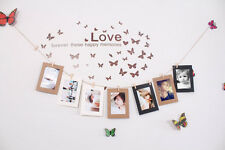 10PCS Kraft Paper Hang Album Photo Frame Wall Picture DIY w/ Rope Clips 6""