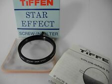 Original Tiffen 4 STAR 4pt 2mm Rotating 49MM Lens Filter boxed case inst paper