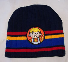 Bob The Builder Boys Navy Blue Stripe Acrylic Beanie Size 0 - 2 New