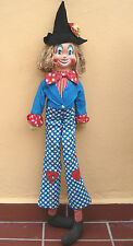 Vintage Italian FIBA like Clown Doll  80cm/31.5 inches