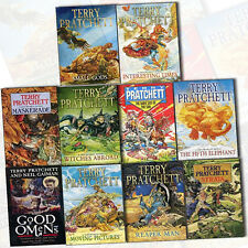 Terry Pratchett Collection 10 Books Set Discworld Novel Series,Good Omens