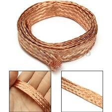 3.3Ft 1Mx11mm Copper Braided Shielded Circle Flat Cover Flexible Sleeve Tool