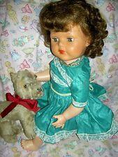 Beautiful, 1950s vintage, Saucy Walker Posie (bending knees) doll, rooted hair