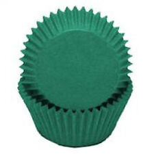"500x  2.0'' base  1 1/4"" Wall Paper Cupcake Muffin Liners, Baking Cups Green"